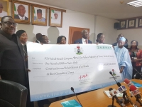 Handover of the N100 Billion Sukuk Cheque to the Ministry of Power, Works and Housing