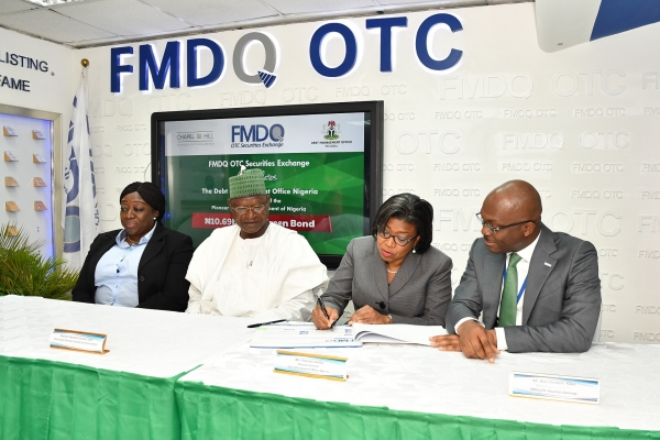 DMO Lists Debut N10.69 Billion Green Bond on The FMDQ OTC Securities Exchange